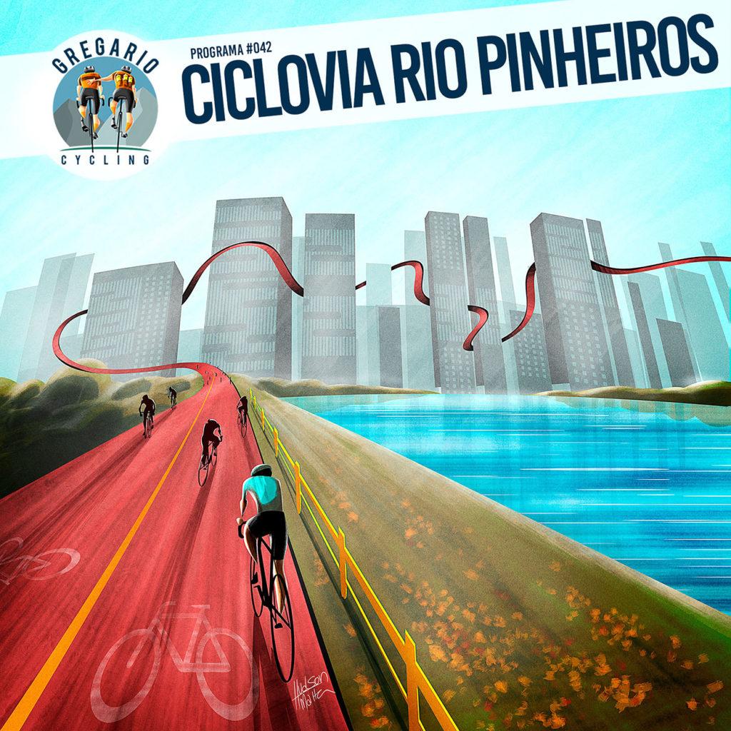 ilustração da Ciclovia Rio Pinheiros